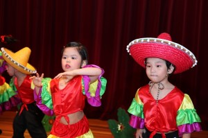 Grooving to a Mexican tune!