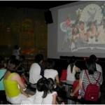 Everyone had their eyes glued to the colourful musical slideshow, showcasing everything that's uniquely Singapore!